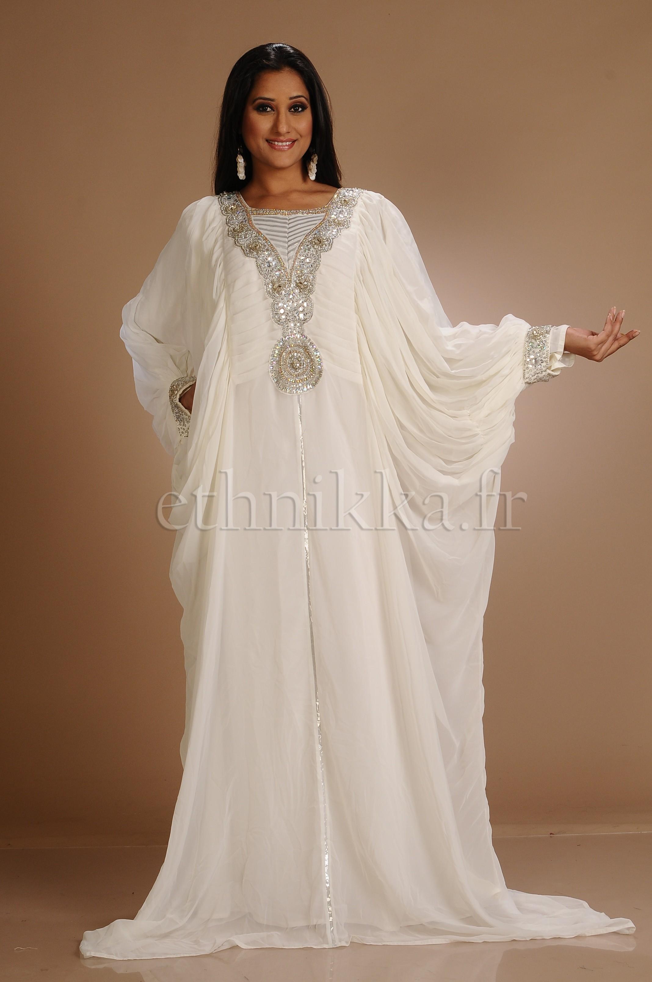 Robe dubai blanc pas cher