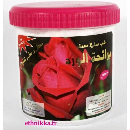 Déodorant pierre d'alun naturel à la fleur de rose