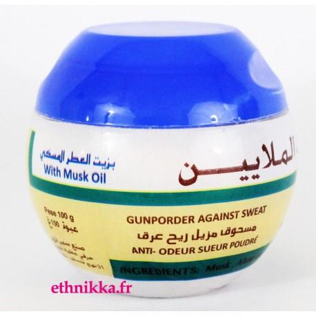 Poudre déodorante anti bactérienne pierre d'alun