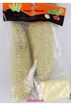 Gant loofah vendu par deux avec savon exfoliant