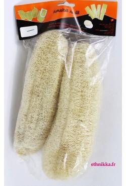 Gant de toilette loofah exfoliant vendu par deux