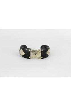 Bracelet bijou ethnique Touareg ébène