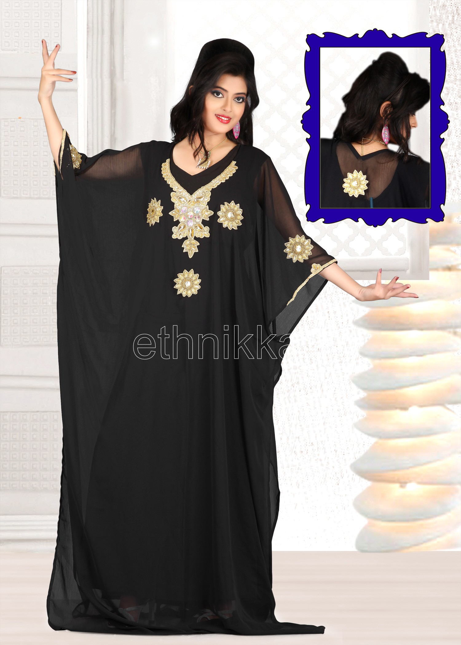 robes l gantes robe dubai noir et dore. Black Bedroom Furniture Sets. Home Design Ideas