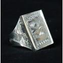 bague touareg bijou ethnique en argent