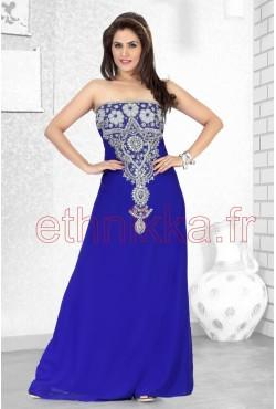 Robe de soirée bleue royal