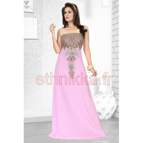 robe orientale rose claire