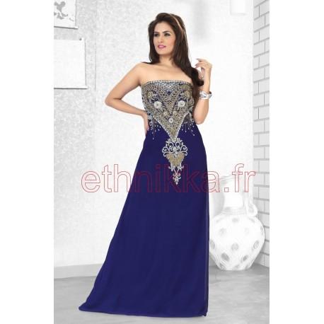 robe orientale bustier bleue