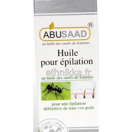 Huile aux oeufs de fourmis réductrice de pilosité