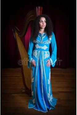 Caftan marocains bleu clair