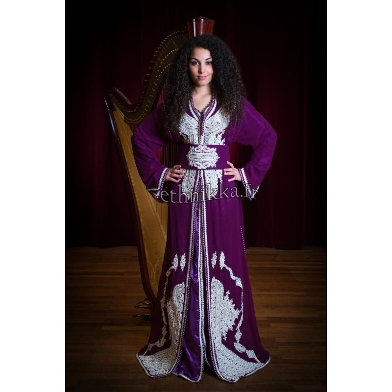Caftan marocains violet traditionnel 5e075cd0908