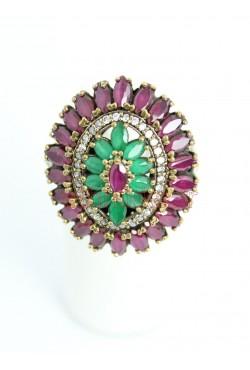 Bague diamant vert et violet de Turquie