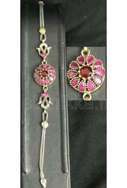 Bracelet et pendentif rosace en argent de Turquie