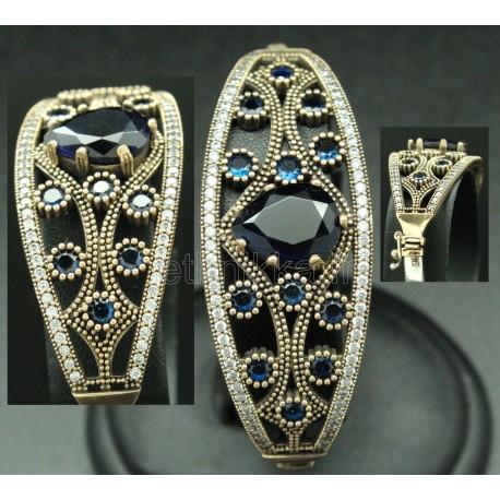 Bracelet avec pierres semi-précieuses de Turquie