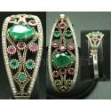 Bracelet couleurs émeraude turc