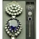 Bracelet bijoux argenté et bleu