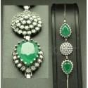 Bracelet vert bijou argent harim soltan