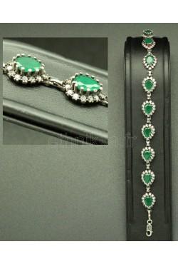 Bracelet élégant pierres précieuses