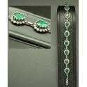 Bracelet bijoux de pierres vertes