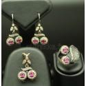 Parure de bijoux en argent de Turquie glamour