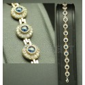 Bracelet turc en argent bleu azur