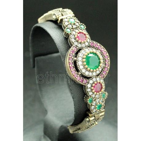 Bracelet rosace bijoux argent de Turquie