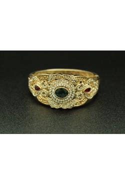 Bracelet harim sultan plaqué or turc avec de belles pierres