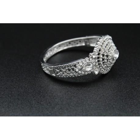 Bracelet turc plaqué or pierres blanches harim sultan