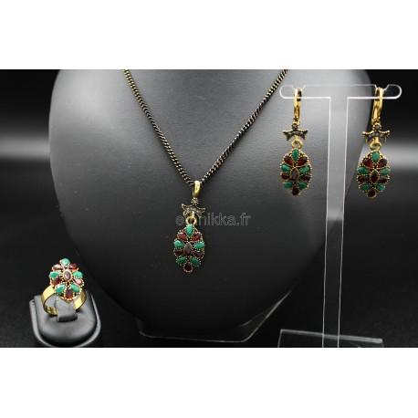 bijoux orientaux parure turc couleur bronze sertis de pierres. Black Bedroom Furniture Sets. Home Design Ideas