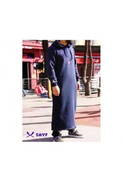 Qamis jogging bleu