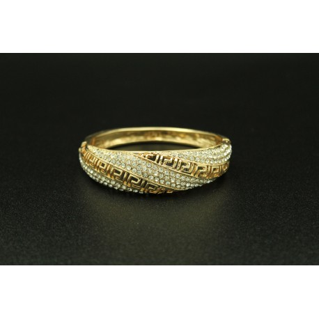 Bijou oriental bracelet en plaqué or design et pierres brillantes