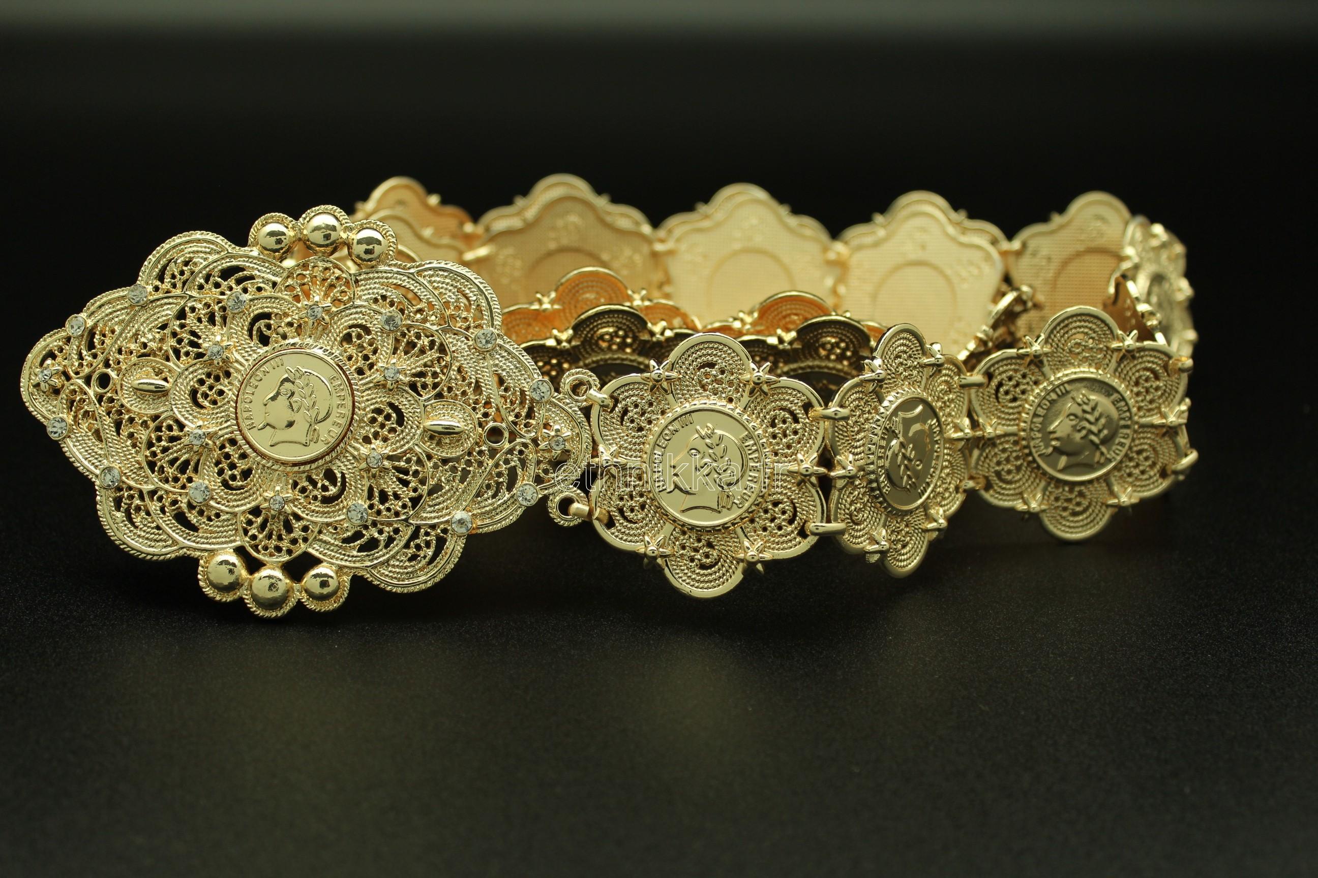 acheter maintenant meilleur authentique date de sortie: Acheter Bijou oriental ceinture Napoléon plaqué or