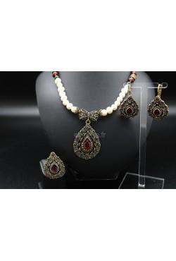 Bijoux orientaux Turquie parure de perles d'eau douce