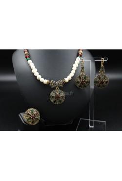 Bijoux orientaux parure de Turquie perles d'eau douce
