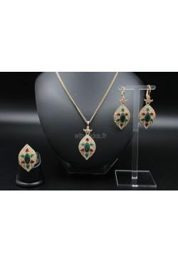Parure bijoux de Turquie en plaqué or
