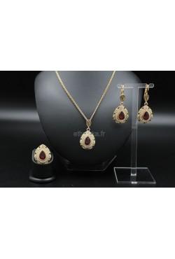 Bijoux orientaux de Turquie parure en plaqué or