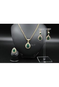 Bijoux orientaux en plaqué or parure turc