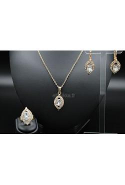Bijoux en plaqué or orientaux turcs ornée de pierres