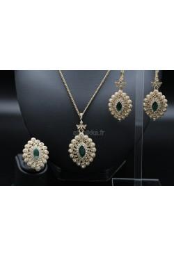 Parure plaqué or bijoux orientaux turcs