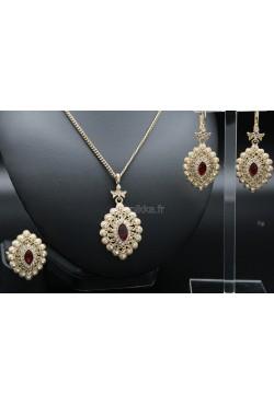 Bijoux orientaux parure de Turquie plaqué or harim sultan