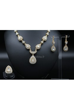 Bijoux orientaux en plaqué or parure de Turquie