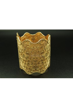 "Bijou oriental bracelet ""wave"" en plaqué or"