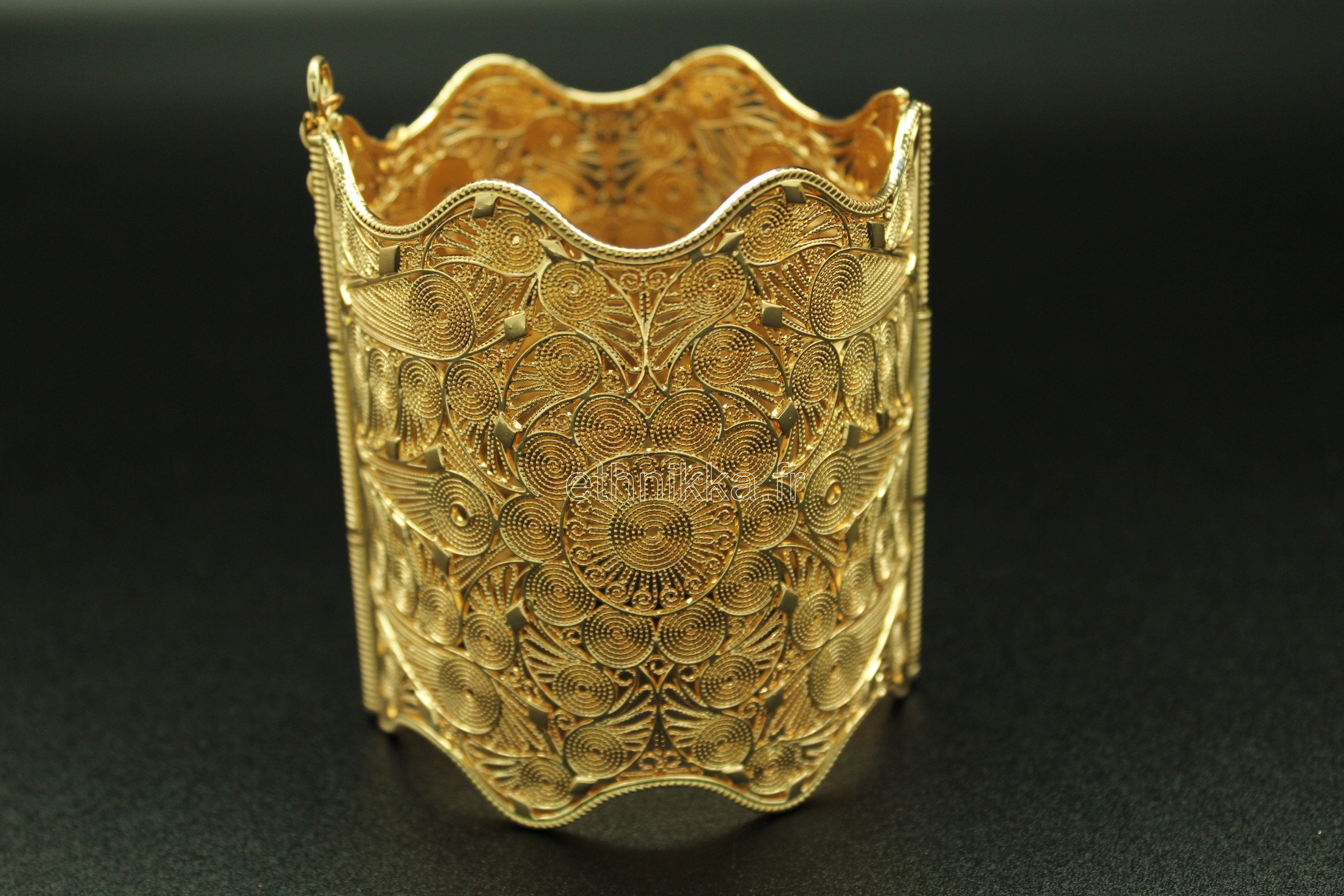Acheter bracelet bijou oriental en plaqué or wave f3f0343977b
