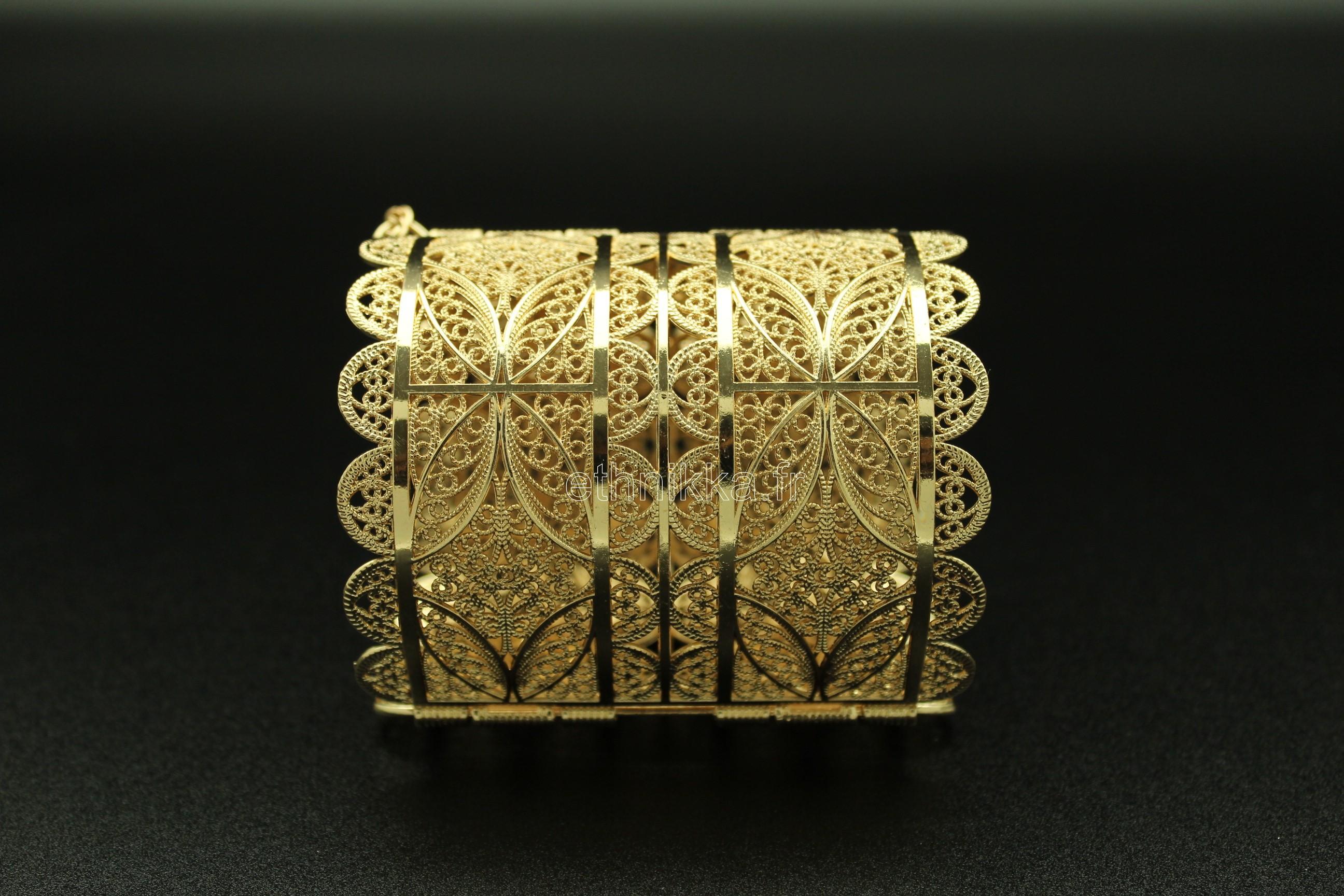 Bracelet bijou oriental en or plaqué aile d ange 8936fd8298a