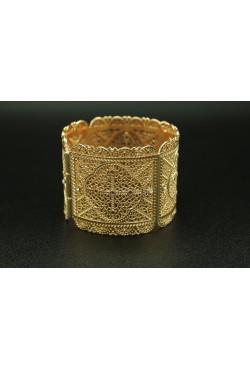 Bijou oriental bracelet en or plaqué sertie de pierres blanche