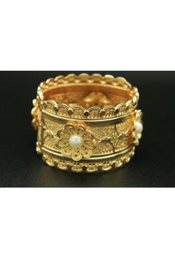bracelet de fleurs bijou oriental plaqué en or