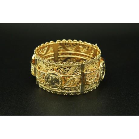 """Bijou bracelet oriental """"wave"""" plaqué en argent"""