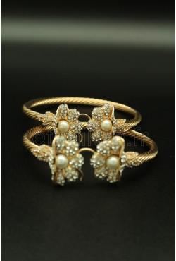 Bracelets de pieds en or plaqué khalkhal