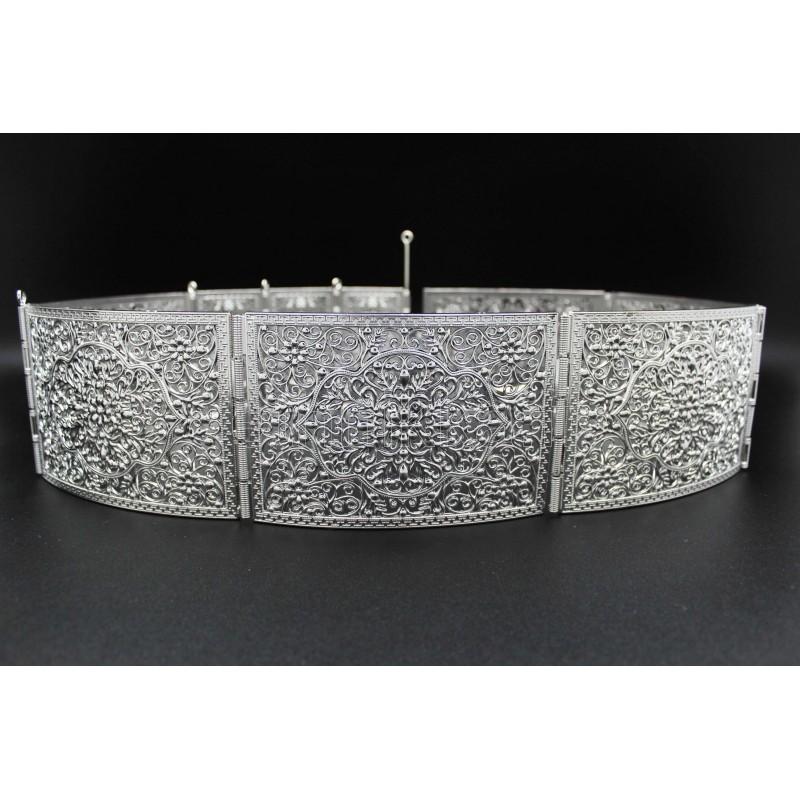 07092a8653d51 Ceinture orientale en argent plaqué arabesque
