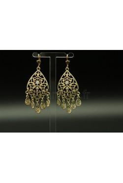 Boucles d'oreilles filigrane pendantes bijoux orientaux