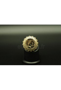 Bague bijou oriental Napoléon en plaqué or